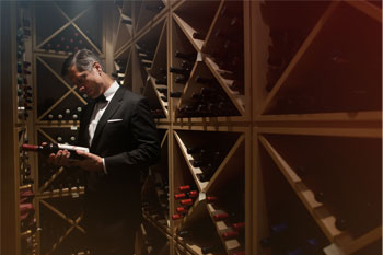 The Vancouver Club - Selecting from the Wine Cellar